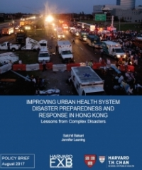 Urban Health System Disaster Preparedness and Response